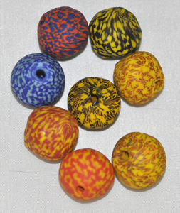 African Recycled Glass, Powder Glass Beads