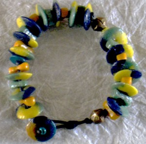 Recycled Glass Knotted Bracelet