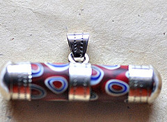 Horizontal Pendant Red trade bead