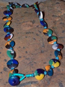 Suncast recycled glass necklace