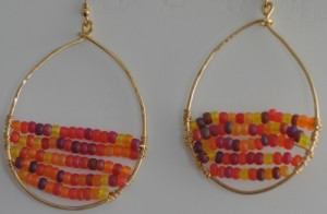 Variegated oval hoops